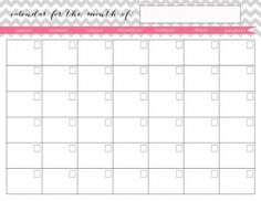 chevron blank monthly calenders | my homekeeping binder kit - jenny collier blog | jenny collier blog