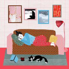 Lazy Sunday love #art #print #illustrations