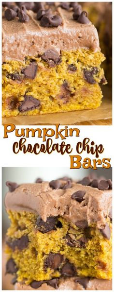 Sink your teeth into one of these Pumpkin Chocolate Chip Bars and you're met with gobs of rich, melty chocolate in each soft, tender, fudgy bite of spiced pumpkin blondie!