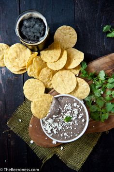 Porter Black Bean Dip. Bean dip in five minutes. With beer. Your next party needs this.