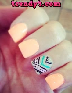 summer nail art - geometric tribal