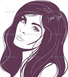 Girls Portrait of Face
