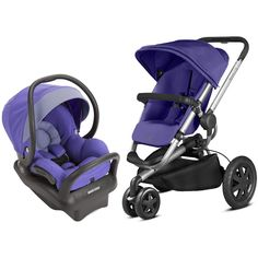 Quinny Buzz Xtra Stoller With Mico Max 30 Infant Car Seat, Purple Pace  Infant Car