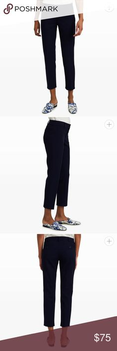 Club Monaco Renay Cropped Pant New with tags. Textured cropped pants. Color is a navy sapphire. Club Monaco Pants Ankle & Cropped