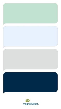 Celadon, Ice, Silver, and Navy Wedding Color Palette - custom color palette created at MagnetStreet.com