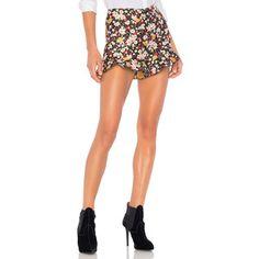 Red Valentino Flower Jacquard Shorts