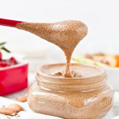 TRUST ME.  This is the best almond butter you will ever have (what? this isn't a singe serving recipe??)