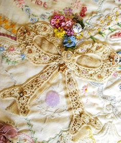Crazy Quilt Detail-- orphaned old linens | Flickr - Photo Sharing!