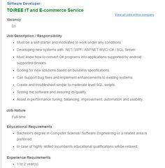RokomariCom  Position Software Engineer Backend Developer