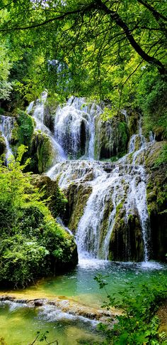 Krushuna waterfalls teracces in Lovech Provence, Bulgaria, Balkans, Europe