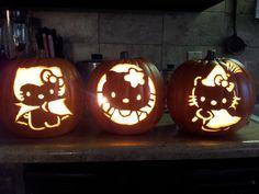 Hello Kitty craft pumpkins
