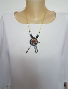 Handmade Necklaces, Pendant Necklace, Etsy, Shopping, Jewelry, Fashion, Moda, Jewlery, Jewerly
