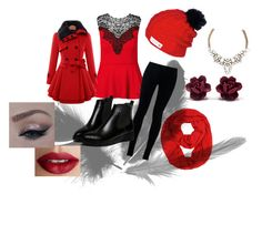 """""""christmas"""" by kajuska-bublinka on Polyvore featuring City Chic, NIKE, WithChic and TheBalm"""