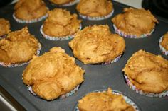 Pumpkin Spice Muffins - 3 ingrediants  1 Box Spice Cake Mix  1 15 oz. Can Pure Pumpkin  1 Cup of Water. 90 cal each