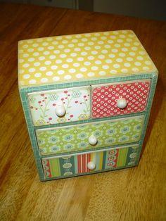 Altered Mini Dresser Trinket Jewelry Box by simplyapplesnspice