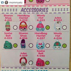 Shopkins Season 4 Accessories Checklist