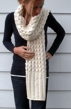 Ravelry: Vanilla Twist pattern by Amy Miller - easy long scarf with cable body and long rib edge trim, for when I learn to knit cables
