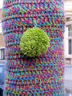Hasselt street art & graffiti - street knitting by _Kriebel_, via Flickr