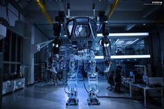 South Korea's answer to the threat posed by North Korea could be the manned robot from Aliens.    OK, the new 13ft machine isn't the exact sameone from the film but it looks damn similar.    Just like the