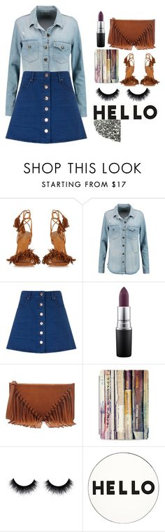 """""""Baby Gotta Shine"""" by nauticajanaee ❤ liked on Polyvore featuring Aquazzura, Current/Elliott, Étoile Isabel Marant, MAC Cosmetics, Sole Society, Casetify, Lisa Perry and GetTheLook"""