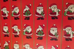 "Vintage Department Store Santa Wrapping Paper Christmas 24"" Wide x 3 Yards 