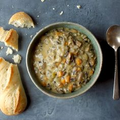 Wild Rice Soup in the Instant Pot! So creamy and simple. Perfect for fall/winter nights! #vegetarian #soup #instantpot #easyrecipe #instantpotrecipe #lunch #dinner | pinchofyum.com Vegetarian Recipes Instant Pot, Instapot Vegetarian Recipes, Slow Cooker Soup Vegetarian, Vegetarian Recipes Videos, Instant Recipes, Vegetarian Lunch, Vegetarian Pasta Dishes, Vegan Mushroom Soup, Mushroom Soup Recipes