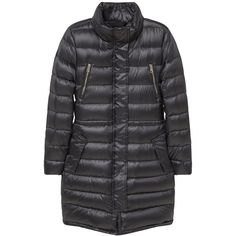 Mango Water-repellent feather coat (5.930 RUB) ❤ liked on Polyvore featuring outerwear, coats, black, women, long sleeve coat, fur-lined coats, funnel-neck coats, down filled coats and feather coat
