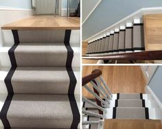 Grey Carpet with Black Border to Stairs