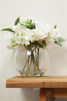 Country Luxe Luxury White Floral Bowl