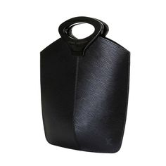 Uber Stylish Louis Vuitton 'Sac Noctambule' in Black Epi Leather   From a collection of rare vintage top handle bags at https://www.1stdibs.com/fashion/handbags-purses-bags/top-handle-bags/