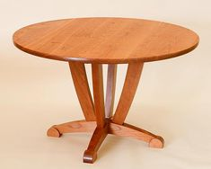 Round Dining Table: Steven M. White: Wood Dining Table   Artful Home