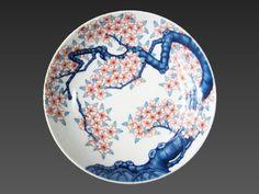 Japanese Porcelain, Japanese Ceramics, Japanese Beauty, Decorative Plates, Homemade, Tableware, Pattern, Crafts, Blue