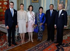 Swedish Royal Family  received the President of Indonesia Susilo Bambang Yudhoyono and his wife Kristiani Herawati at the Royal Palace.