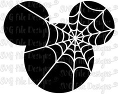 Halloween Cobweb Spider Web Mickey Mouse Disney Cutting File / Printable Clipart in Svg, Eps, Dxf, Png, and Jpeg for Cricut and Silhouette