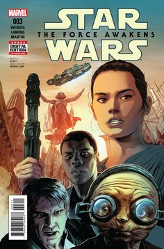 *High Grade* (W) Chuck Wendig (A) Luke Ross (CA) Mike Deodato • Rey and Finn escaped Jakku in the Millennium Falcon and teamed up with Han Solo and Chewbacca! • But they're not in the clear yet - ther