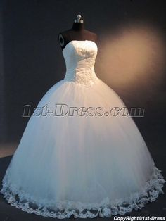 Strapless Princess Ball Gown Wedding Dress IMG_2436:1st-dress.com