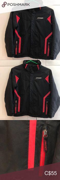 SPYDER BOYS Red & Black Jacket Size 20 SPYDER RED & Black Jacket/ Zipper Up/ Gentle worn / Still has a lot of wear out of it / Smoke Free Home Spyder Jackets & Coats Puffers