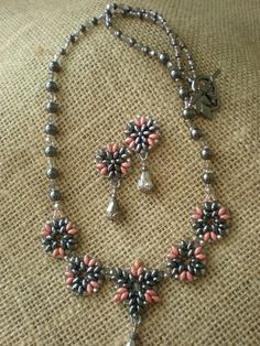 Dark Star Necklace and Earring Ensemble by TheElegantRelique