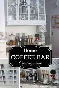 Here is my new coffee bar in my kitchen.  See the video where I take you on a tour! https://youtu.be/0GmjxwzIFhA