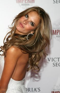 gorgeous hair color // love alessandra ambrosio!