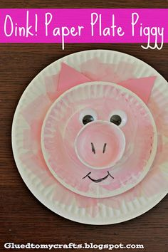 Paper Plate Piggy from Glued to my Crafts