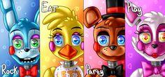 Toys band poster (Five Nights at Freddy's 2) by ArtyJoyful.deviantart.com on @DeviantArt