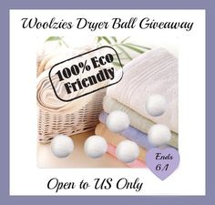 woolzies button1 Woolzies Dryer Balls Giveaway ends 6/1