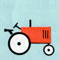 newhousebooks:    Tractor from Row-Peterson Arithmetic, Grade 7, 1953.