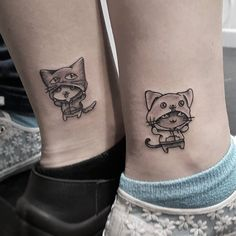 A true best friend is forever, and so are tattoos (well, in theory anyway), so what better way to honor that friendship than with a pair of matching BFF tattoos? Sister Tattoo Designs, Ankle Tattoo Designs, Matching Best Friend Tattoos, Matching Tattoos, Sibling Tattoos, Couple Tattoos, Beste Freundin Tattoo, Girlfriend Tattoos, Meaningful Tattoos For Couples
