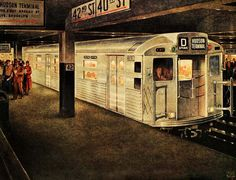 Take the D Train, art by Leslie Ragan - 1949