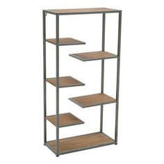 METAL/WOODEN SHELF 50X24X100 - Shelves - Bookshelves - FURNITURE