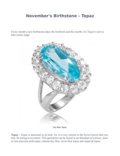 November's birthstone – topaz