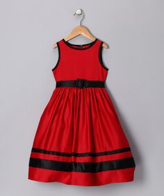 Take a look at this Red Eve Dress - Toddler & Girls by All Decked Out: Kids' Apparel & Accents on #zulily today!