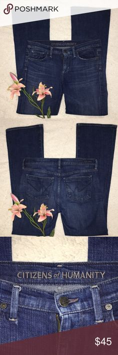 LADIES CITIZENS OF HUMANITY JEANS GREAT USED CONDITION   HAVE A LITTLE WEAR ON THE END OF THE LEGS  INSEAM IS 30 Citizens Of Humanity Jeans Boot Cut